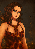 The Girl On Fire by 7Lisa