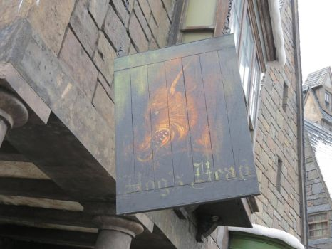 hogsmeade village hog's head  harry potter by Sceptre63