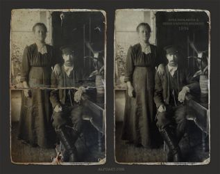 Restore old damaged photo in Photoshop by AlexandraF