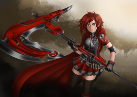 Ruby Rose - Crescent BATTLEAXE (AKA Axel Rose) by LobbyRinth