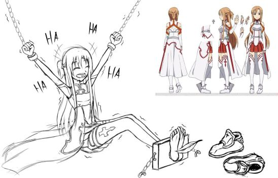 Asuna Tickled by OneDumbDuck