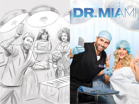 DrMiami sketch to reality by AOPaul
