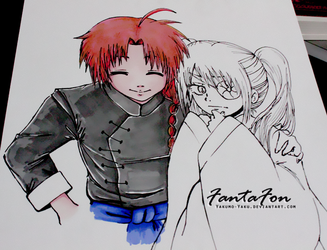 Gintama Kamui And Girly Kyuu Chan By Yakumo Yaku On DeviantArt