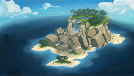 Sea of Thieves island concept by Yaepie