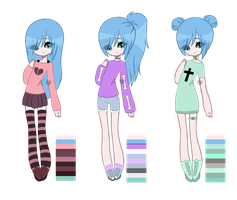Pastel Goth Girl Adoptable || CLOSED by AngelAdopts