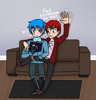 Pay Attention to Me! Red x Blue by nibbles7192