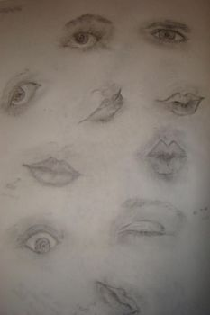eye and mouth study by gilliancarson