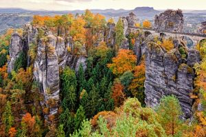 Saxon Switzerland in Autumn by Stefan-Becker