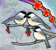 Black Capped Chickadee as Totem by Ravenari