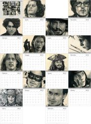 Johnny Depp Calendar Preview IT by th3blackhalo