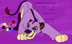 Katrina Anderson reference sheet 2016 by Oklahoma-Lioness