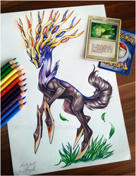 young Xerneas by Acayth