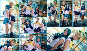 Sailors Uranus and Neptune Collage by AmmieChan