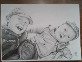 Two Brothers portrait by davidsteeleartworks