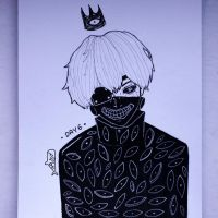 Inktober '17 - DAY 6 - Kaneki Ken by as-obu