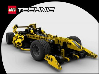 Lego F1 Car Final by steveee