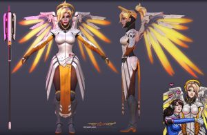 Mercy 3d model fanart 1 by itzaspace