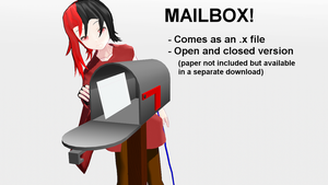 Mailbox for MMD [+Download] by triangleboxstudio
