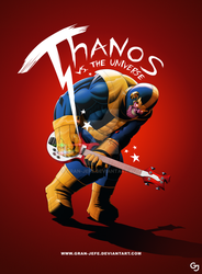 Thanos vs the Universe by gran-jefe