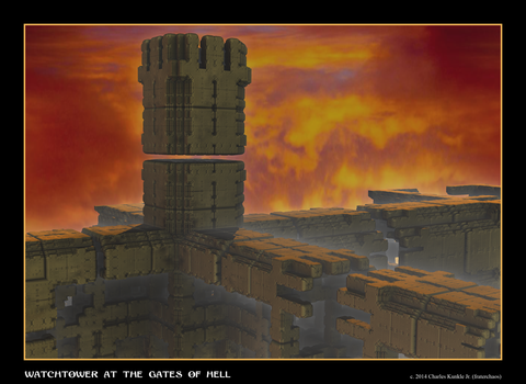 Watchtower At The Gates Of Hell by fraterchaos