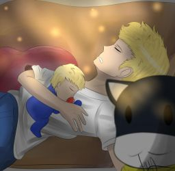 Request-Napping with daddy Ryuji by DinoLover123