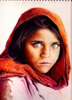 Sharbat Gula the women of National Geographic by JefeMaestro