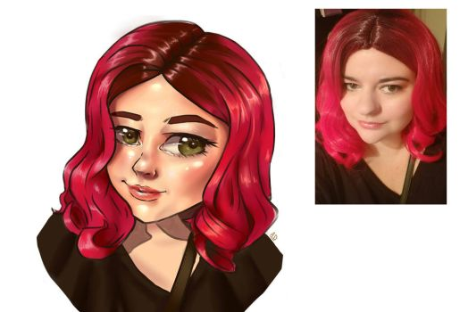 Girl Commission Portait by AnaDarcy