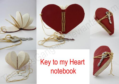 Key to my Heart notebook by ThePressGang-ink