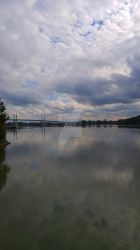 clouds over the Fraser River by iamthebearded1