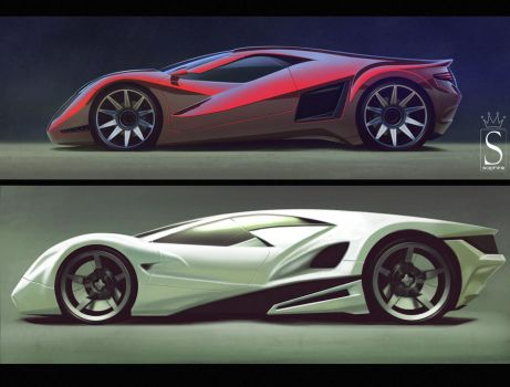 Supercar duo by SaphireDesign