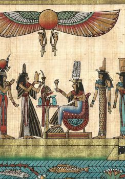 Egyptian Dinner Party Papyrus scan0202 by TheObsessiveBrowser
