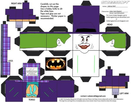DCF1: The Joker '89 Cubee by TheFlyingDachshund