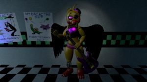 Half withered Spring Chica by Demonia99