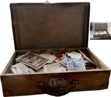 Old Suitcase With Photos by magicsart