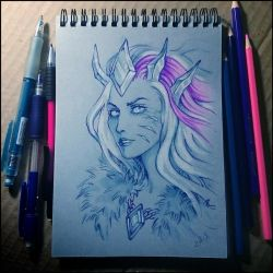 Sketchbook - Frost Lich Jaina by Candra