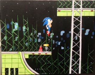 Star Light Zone Oil Painting by DecemberWildfire