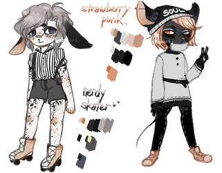 auction // closed // two smol anthros by kitewinds