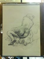 Life Drawing Contour Study by miss-a-r-t