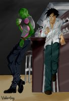 Two lushes at the Bar by ChaoticIvory
