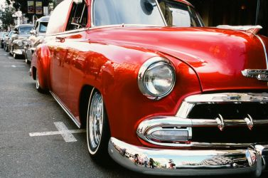 Red Ride Reflections by DizzyCowPhotography