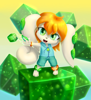 Milla, the summoner of cubes by JT-Metalli