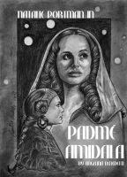 Padme Amidala Graphite Movie Poster by AngelinaBenedetti