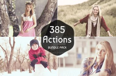 385 Life Saver Photoshop n Elements Actions Bundle by sfahmad2kf