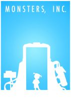 Monsters Inc. Minimal Poster by CW-Posters