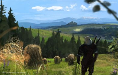 Geralt return by Kalberoos