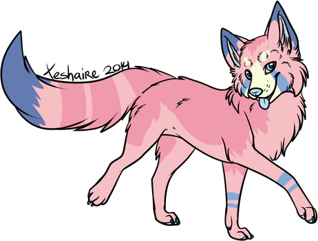 Adoptable #1 Cotton Candy Canine $5 (Open) by KingGigabyte