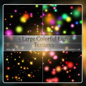 5 Large colorful light textures - Pack II by MagnifiqueN