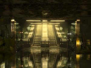 Exit of the metro by IvaanMR11 by IvaanMR11