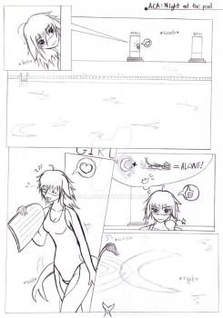 Aca: Night at the pool Page 1 by galajo