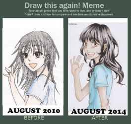 Draw This Again - 4 years difference by MailysPit